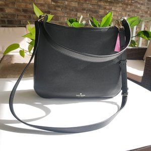 Kate Spade Kailee Leather Black Pink Shoulder Bag
